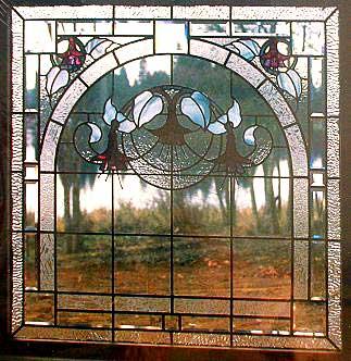 CKE-135 Fuchsia Love Seat Window (Stained Glass Full Size Patterns)