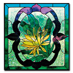 CKE-139 Night Blooming Cereus, Victorian Style (Stained Glass Full Size Patterns)