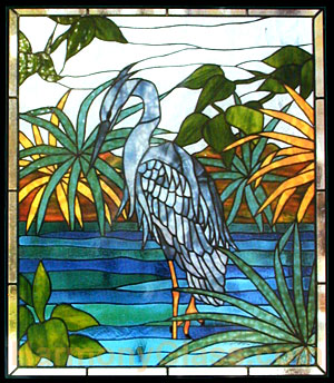 CKE-140 Heron Rectangle (Stained Glass Full Size Patterns)