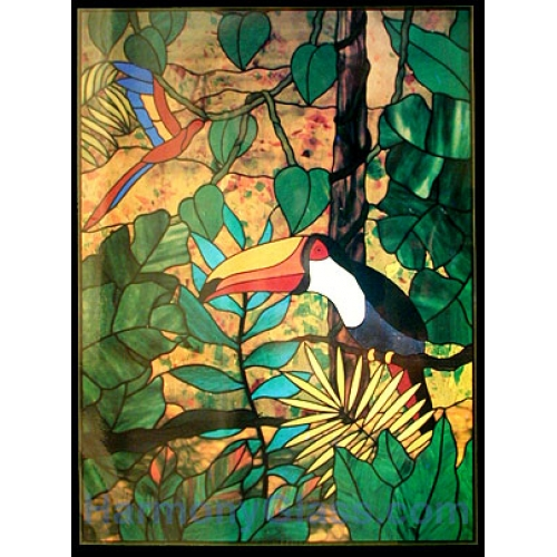 CKE-175 Jungle Toucan (Stained Glass Full Size Patterns)