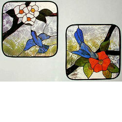 CKE-40 Birds And Flowers (Stained Glass Full Size Patterns)