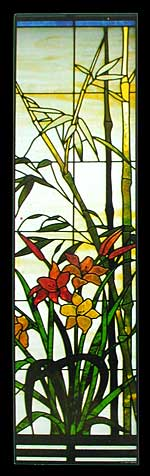 CKE-54 Bamboo And Calla Lilies (Stained Glass Full Size Patterns)