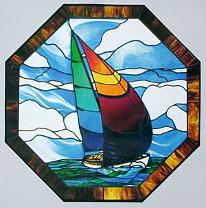 CKE-55 Sailboat Window (Stained Glass Full Size Patterns)