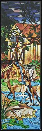 CKE-60 Deer Window (Stained Glass Full Size Patterns)