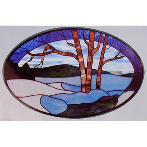 CKE-32 Winter (Stained Glass Full Size  Patterns)