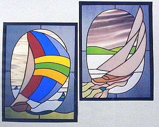 CKE-13 Sailboat Duet (Stained Glass Full Size Patterns)