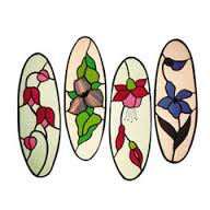 CKE-3 Flower Quartet (Stained Glass Patterns)