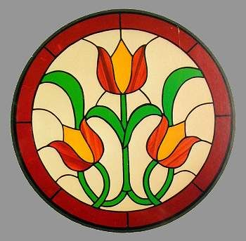CKE-7 Triple Tulips (Stained Glass Patterns)