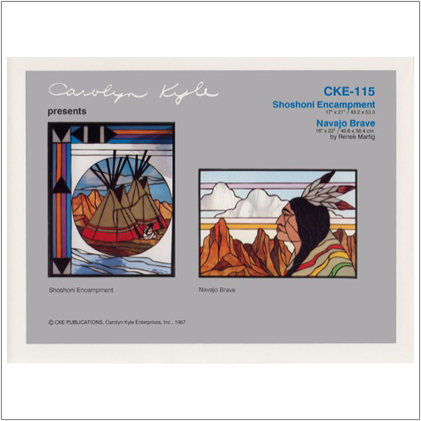 CKE-115 Shoshone Encampment/Navajo Brave (Stained Glass Full Size Patterns)