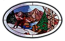 CKE-118 Peacefull Valley (Stained Glass Full Size Patterns)