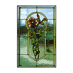 CKE-136 The Wild Rose (Stained Glass Full Size Patterns)