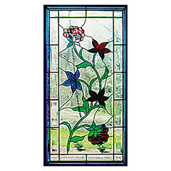 CKE-138 Simple Floral (Stained Glass Full Size Patterns)