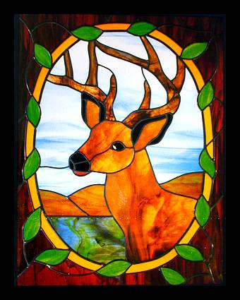 CKE-15 Deer Portrait (Stained Glass Full Size Patterns)