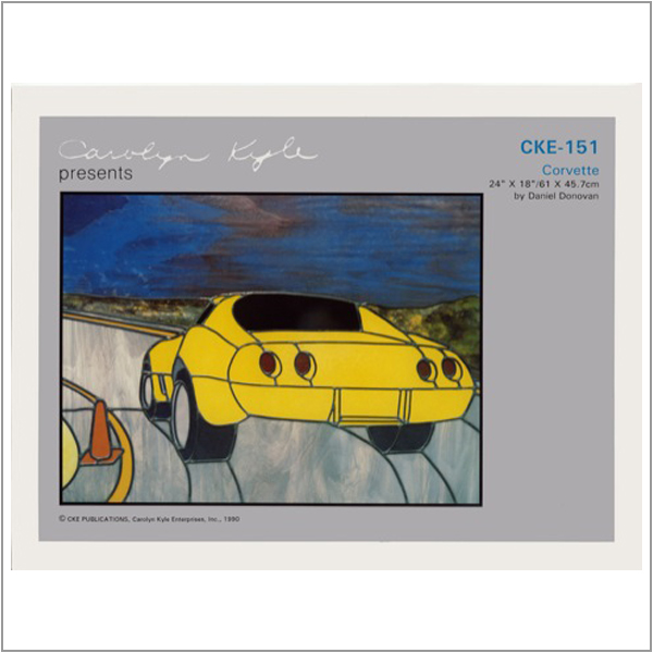 CKE-151 Corvette (Stained Glass Full Size Patterns)