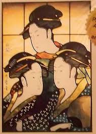 CKE-153 Japanese Beauties (Stained Glass Full Size Patterns)