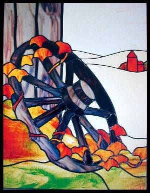 CKE-16 Wagon Wheel (Stained Glass Full Size Patterns)