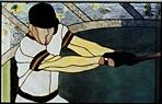CKE-161 Baseball Player (Stained Glass Full Size Patterns)