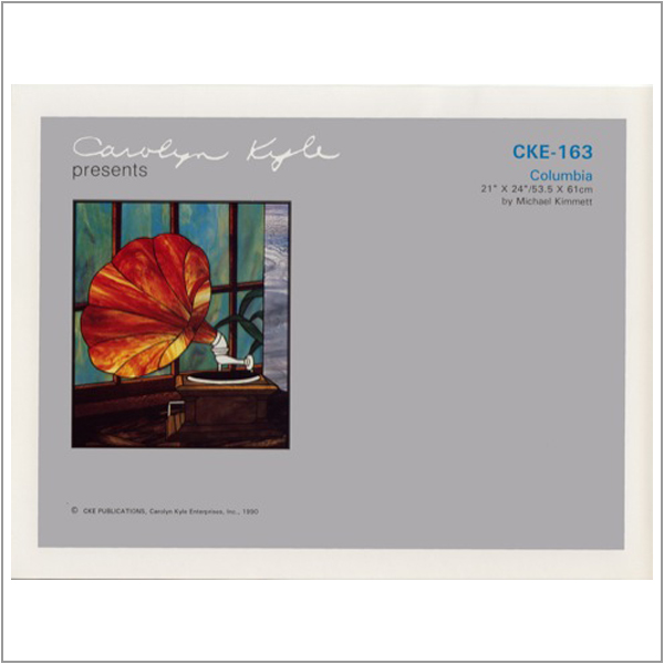 CKE-163 Columbia (Stained Glass Full Size Patterns)