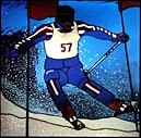 CKE-167 Skier (Stained Glass Full Size Patterns)