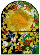 CKE-169 Tropical Tropical Sunburst (Stained Glass Full Size Patterns)