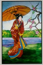 CKE-171 Oriental Spring (Stained Glass Full Size Patterns)