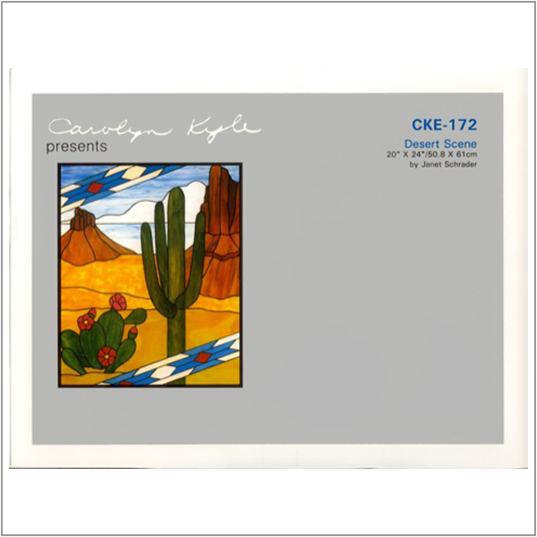 CKE-172 Desert Scene (Stained Glass Full Size Patterns)