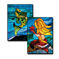 CKE-176 Pisces/Mermaid (Stained Glass Full Size Patterns)