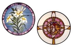 CKE-181 The Lilies/Dove (Stained Glass Full Size Patterns)