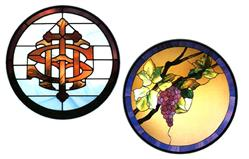 CKE-182 The Grapes/IHS (Stained Glass Full Size Patterns)
