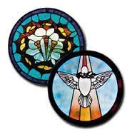 CKE-183 The Crown of Thornes/Descending Dove (Stained Glass Full Size Patterns)