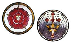 CKE-184 The Cross and Crown/Cross, Heart, and Rose (Stained Glass Full Size Patterns)