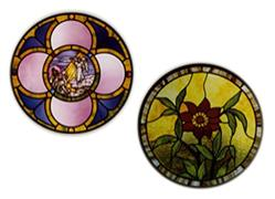 CKE-185 the Poinsetta/The Circle with Opaen Center (Stained Glass Full Size Patterns)