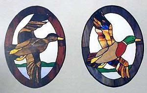 CKE-19 Mallards In Flight (Stained Glass Full Size Patterns)