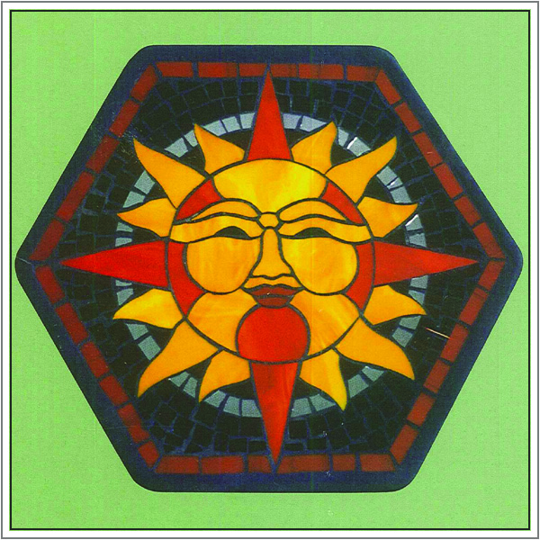 CKE-192 Sundial (Mosaic Stained Glass Stepping Stone Patterns)