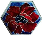 CKE-193 Country Poppy (Mosaics Stained Glass Stepping Stone Patterns)
