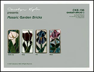 CKE-196 Calla Lily/Iris/Tulip/Rose (Mosaics Stained Glass Stepping Stone Patterns)