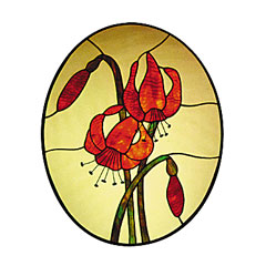 CKE-29 Lilies (Stained Glass Full Size Patterns)