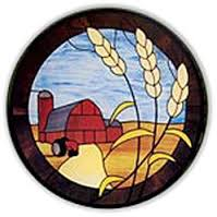 CKE-33 Farm Scene (Stained Glass Full Size Patterns)