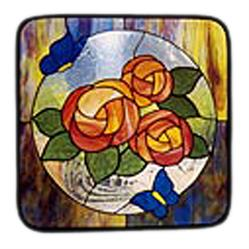 CKE-41 Roses And Butterflies (Stained Glass Full Size Patterns)