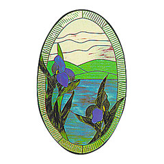CKE-47 Iris Scene (Stained Glass Full Size Patterns)