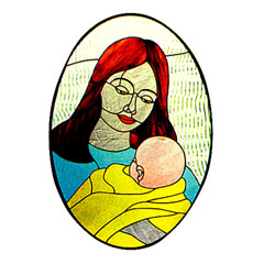 CKE-49 Mother And Child (Stained Glass Full Size Patterns)