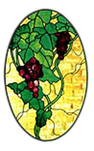CKE-59 Grape Oval (Stained Glass Full Size Patterns)