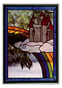 CKE-73 Castle In The Cloud (Stained Glass Full Size Patterns)