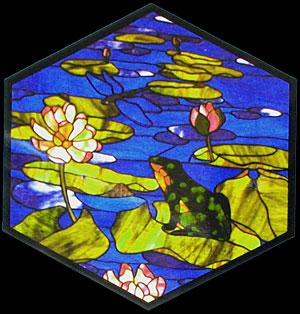 CKE-78 Frog And Dragonfly (Stained Glass Full Size Patterns)