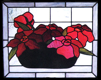 CKE-79 Floral Bowl (Stained Glass Full Size Patterns)