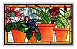 CKE-81 Four Pots (Stained Glass Full Size Patterns)