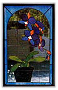CKE-82 Orchid In Pot (Stained Glass Full Size Patterns)