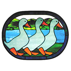 CKE-86 Ducks In A Row (Stained Glass Full Size Patterns)