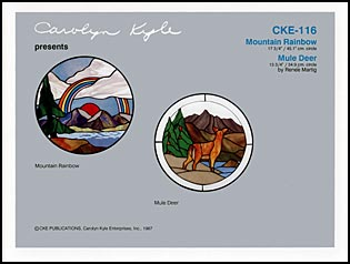 CKE-116 Mountain Rainbow (Stained Glass Full Size Patterns)