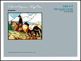 CKE-117 High Country Traveler (Stained Glass Full Size Patterns)